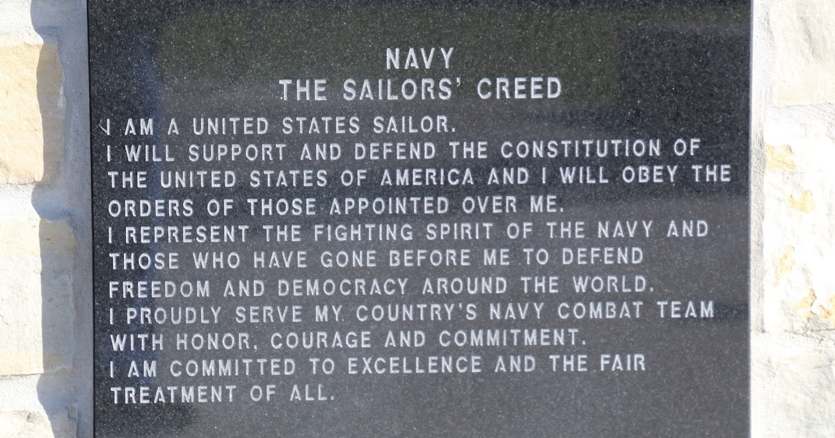 wisconsin historical markers veterans memorial park of oconomowoc navy the sailors creed