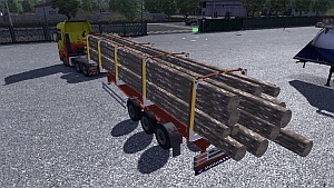Trailer with timber crane by Roco