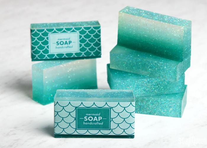 DIY Ombre Mermaid Soap