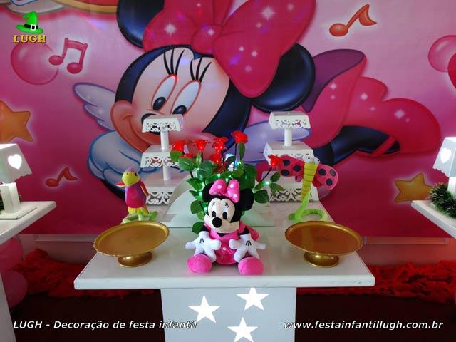 Minnie Rosa - Mesa provençal para festa de aniversário infantil