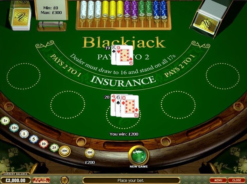 Prestige Casino Blackjack Screen