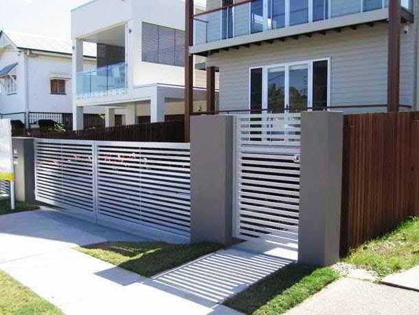 Desain Pagar Rumah Minimalis Modern Warna Putih