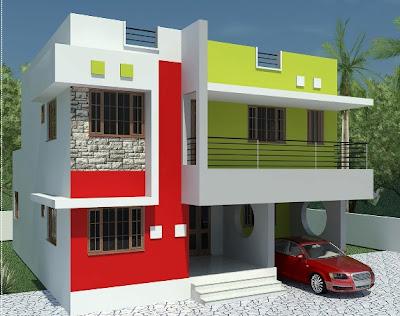 desain interior eksterior malang: rumah modern 2 lantai