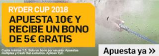 betfair promocion 5 euros Ryder Cup 2018