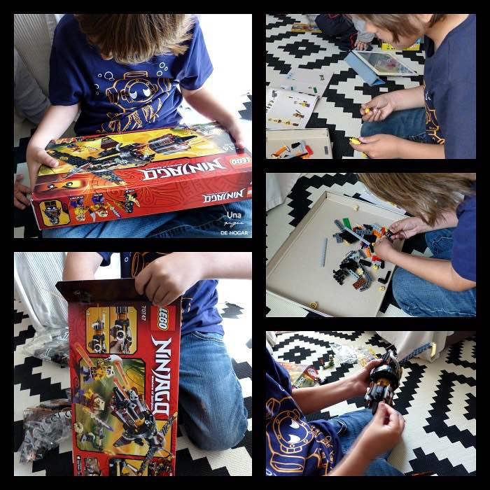 Lego Ninjago Destructor de Roca y niño montando