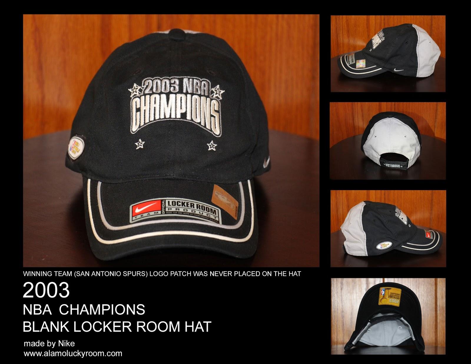 1a107508d08 2003 Blank NBA Champions Locker Room Hat