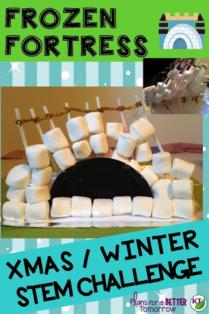 WINTER - CHRISTMAS STEM Challenge: In Frozen Fortress, students build a fortress wall, aiming for the biggest - and most stable - wall possible! Comes with modifications for grades 2-8.