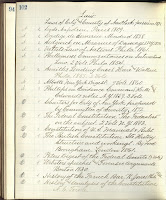 page from Hawkin's catalog listed his law books