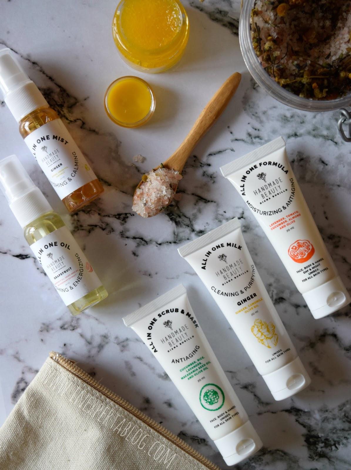 kit de minitallas para probar de la marca Hand Made Beauty vegana