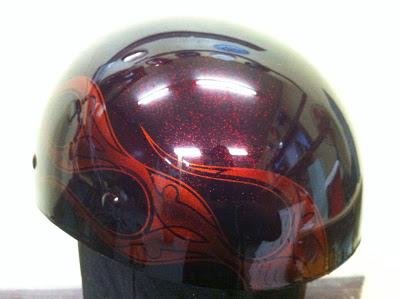 1025412409 - カスタムペイント工程  バッドボーンヘルメット オレンジフレイムス