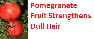 Health Benefits of Pomegranate Fruit (anar fruit) juice - Pomegranate Fruit Strengthens Dull Hair