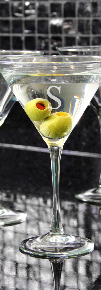 CATHY'S CONCEPTS Personalized Martini Glasses (Set of 4)