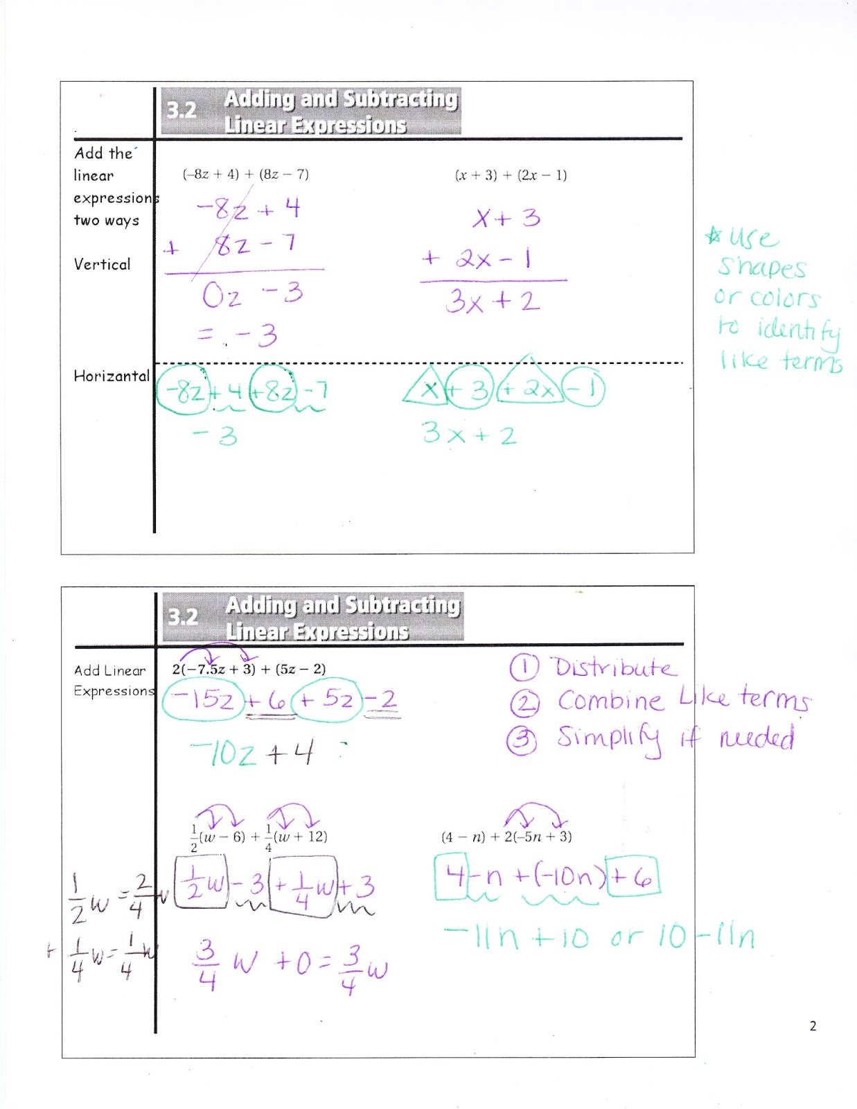 Ms Jean S Classroom Blog 3 2 Adding And Subtracting