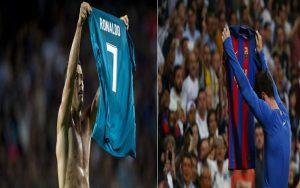 صور رونالدو يرد على ميسي .. ويكسب تحدي رفع القميص