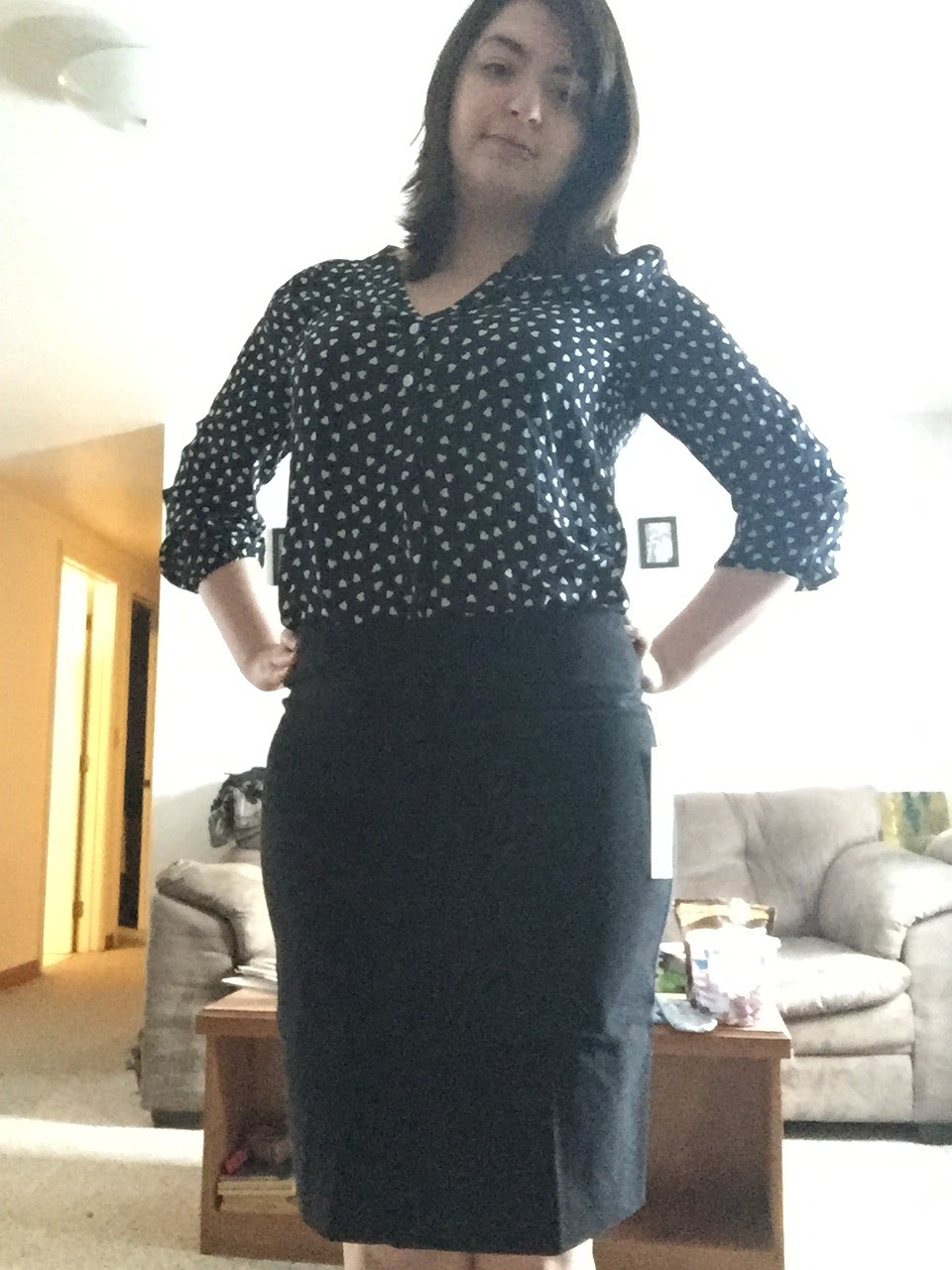 705758b662 Margaret M- Christiana Textured Pencil Skirt- $78. The first two items  looked pretty snazzy but my stylist suggested i pair them together.