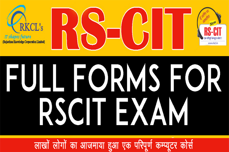 Full Form For RSCIT Exams - LearnRSCIT