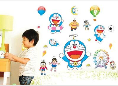 Decal dán tường hoạt hình doremon