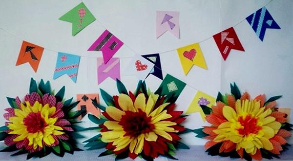 Guest Post # 10 dicas de decoraç u00e3o para Festa Junina! Abrir Janela # Decoração De São João Com Papel Crepom