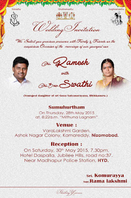 Thagubothu Ramesh Wedding Invitation card02