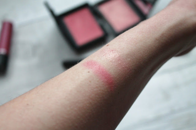 NARS Sarah Moon Impudique Swatch vs NARS Orgasm Swatch