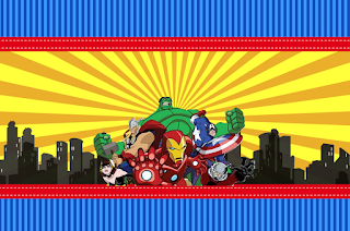 Avengers Comic Version Free Printable  Labels.