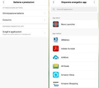 Batteria app