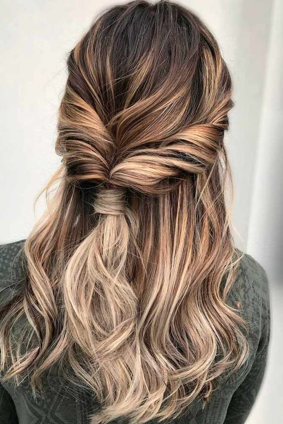 Twisted Hairstyles for Romantic Look