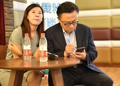 ¡Pillado! Las imágenes del CEO de Samsung utilizando el Samsung Galaxy Note 9