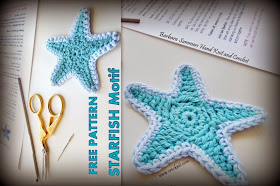 five point star, free crochet patterns, how to crochet, motif, star, starfish,