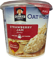 Quaker Oats so simple Strawberry Jam Porridge pot