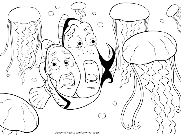 Latest Finding Nemo Coloring Page For Kids