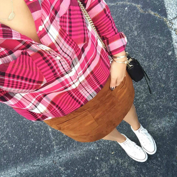 faux suede skirt, outfit selfie