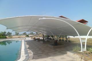 tenda membrane depok untuk kolam renang
