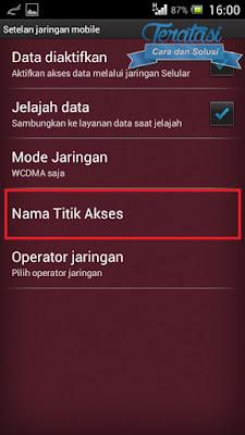 edit titik akses di android - Tips dan Trik Mengatasi Koneksi Error saat install BBM di Android