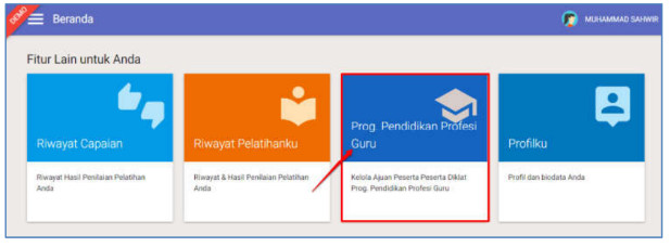menu Prog. Pendidikan Profesi Guru
