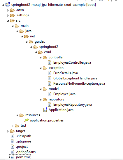Spring Boot + Microsoft SQL Server + JPA/Hibernate CRUD Restful API