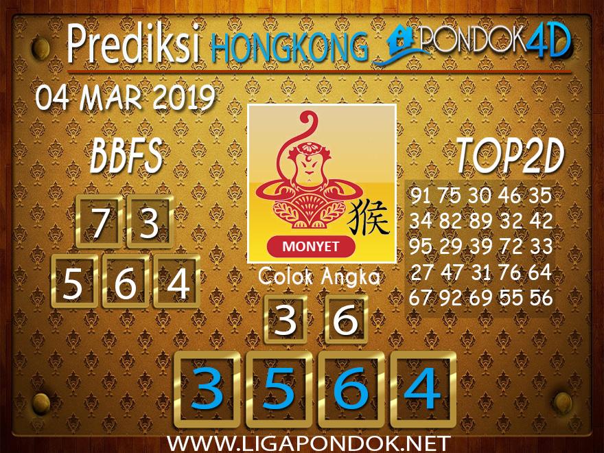 Prediksi Togel HONGKONG PONDOK4D 04 MARET 2019
