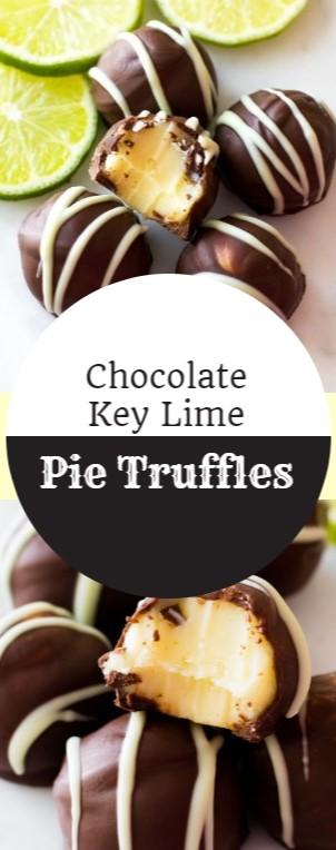 Chocolate Key Lime Pie Truffles #christmas #chocolate