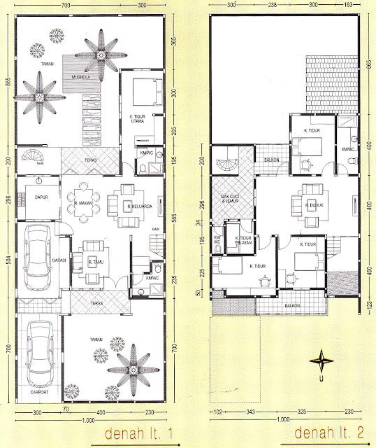 Denah Lantai 1 dan 2