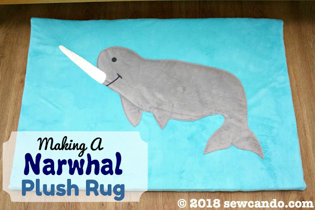 Sewing tutorial: Narwhal plush nursery playmat
