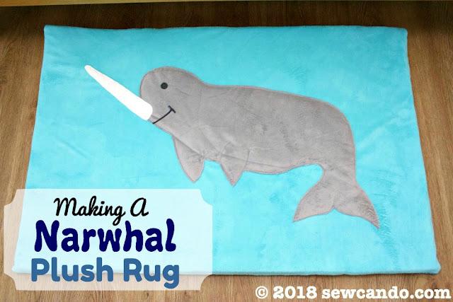 Sewing tutorial: Narwhal plush nursery playmat
