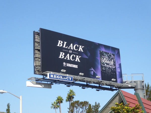 Black is back Lottery Scratchers billboard
