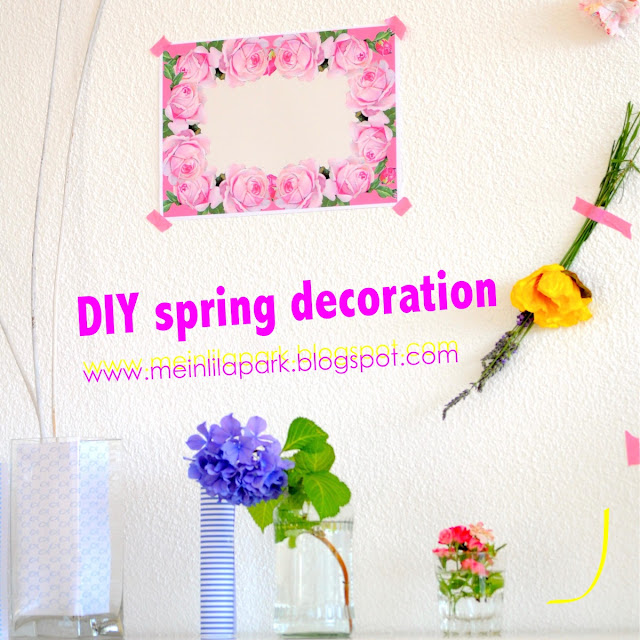 DIY spring decoration ideas + free printable floral paper – Frühlingsdekorationen