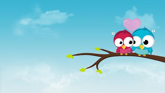 uccellini, love, amore, disegno,