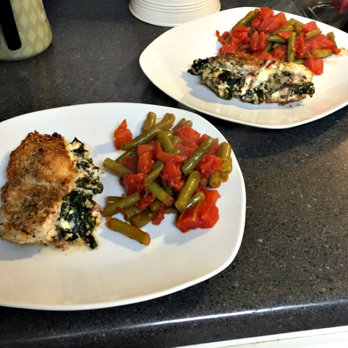 Recipes I've Tried Lately - Spinach & Feta stuffed chicken