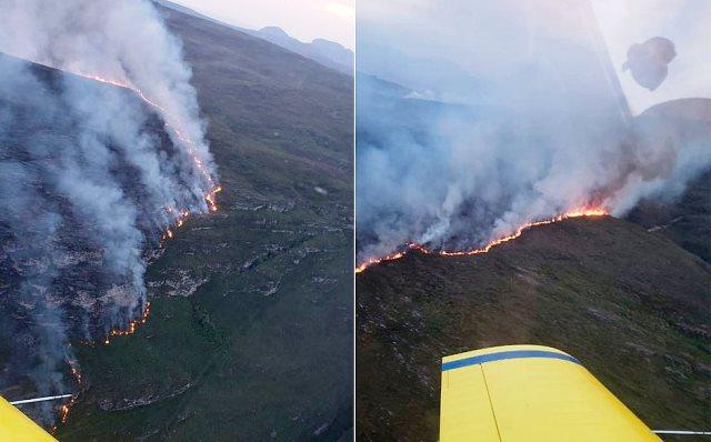 Fogo no parque nacional da Chapada destrói área de 2,4 mil campos de futebol