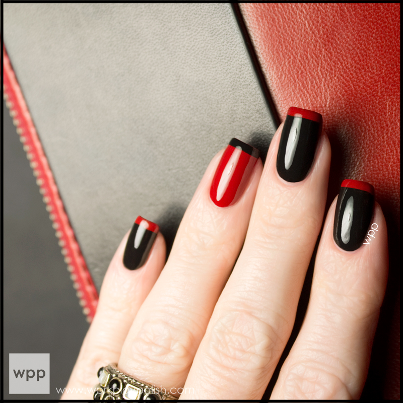 RABEANCO-inspired French Mani with Chanel Black Satin and Dragon