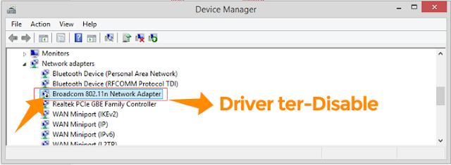 Cara menghilangkan tanda silang merah pada icon wifi windows 7, 8 dan 10