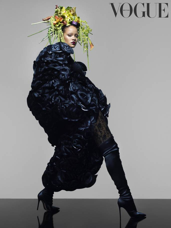 Rihanna Ditches Her Eyebrows for the September Issue of British Vogue