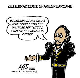 shakespeare, umorismo, cinema, vignetta